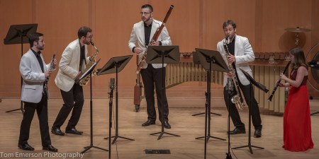 Akropolis Reed Quintet returns to Chamber Music Northwest. Photo: Tom Emerson.