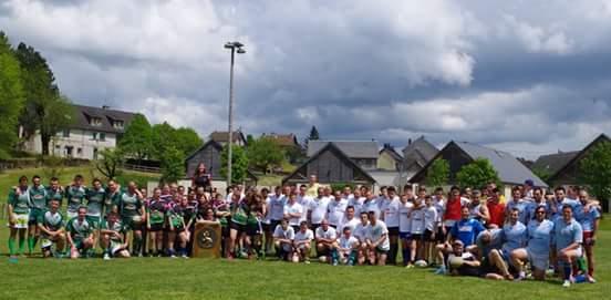 Avec l'école de rugby du Sancy