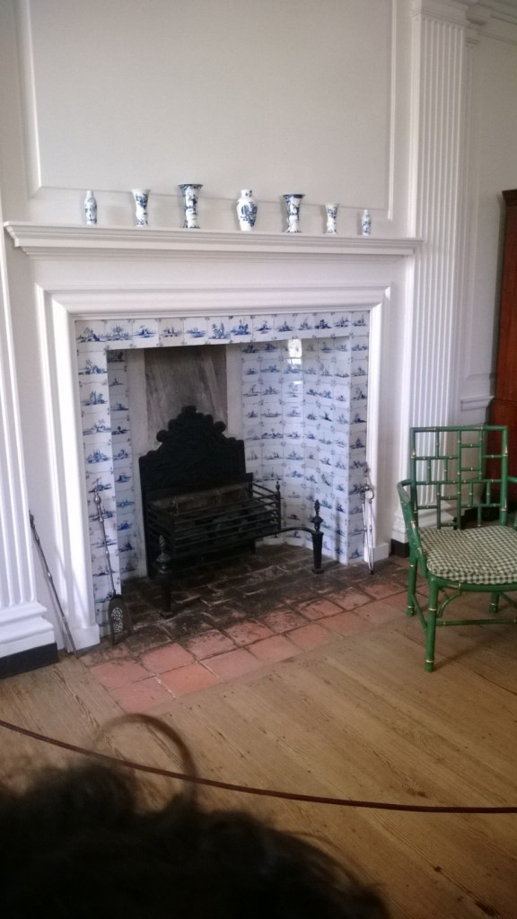 Fireplace in the nursery.