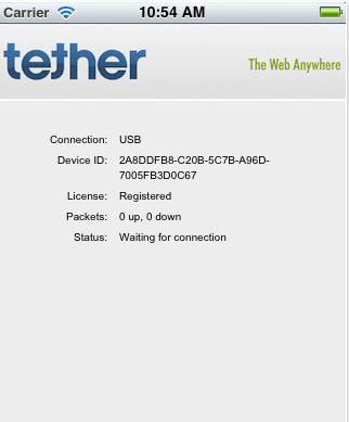 iTether screenshoot