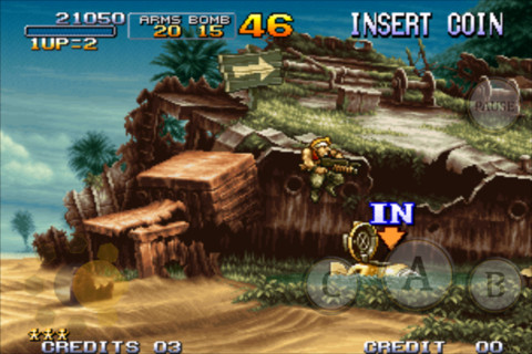Metal Slug 3 su iPhone screenshot.