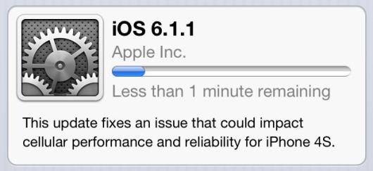 Aggiornamento iOS 6.1.1 solo per iPhone 4S
