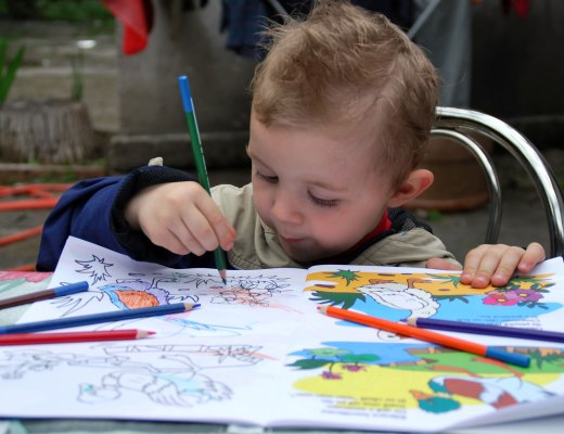 Coloring is the perfect toddler activity