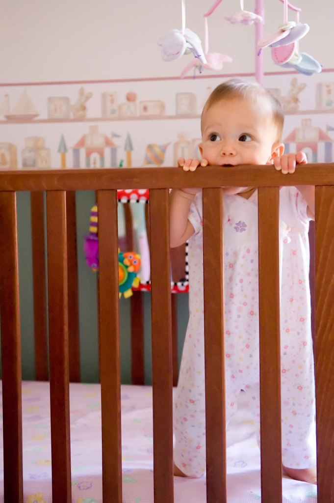 Nursery furniture such as cribs usually end up in baby's mouths.