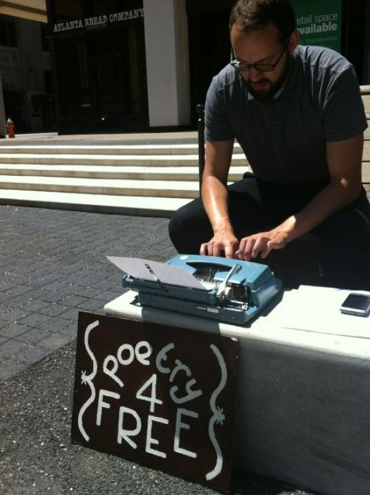 Poetry 4 Free in Perk Plaza on Walnut Wednesdays