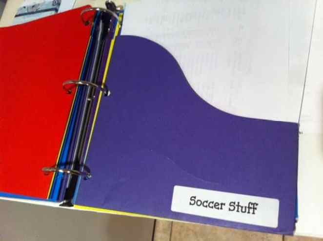 School binder pockets