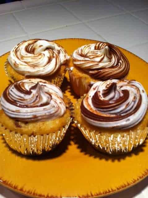 Simple Nutella Cupcakes