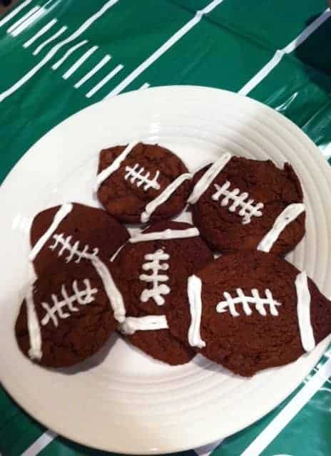 Football Cookies for Tailgate