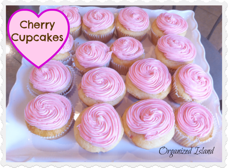 Cherry, cupcakes, flavored cupcakes, pink cupcakes