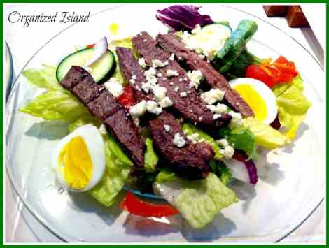 Simple Steak Salad #summer #salad.jpg