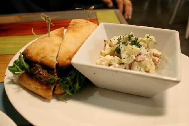 Beef-sandwich-potato-salad-wild