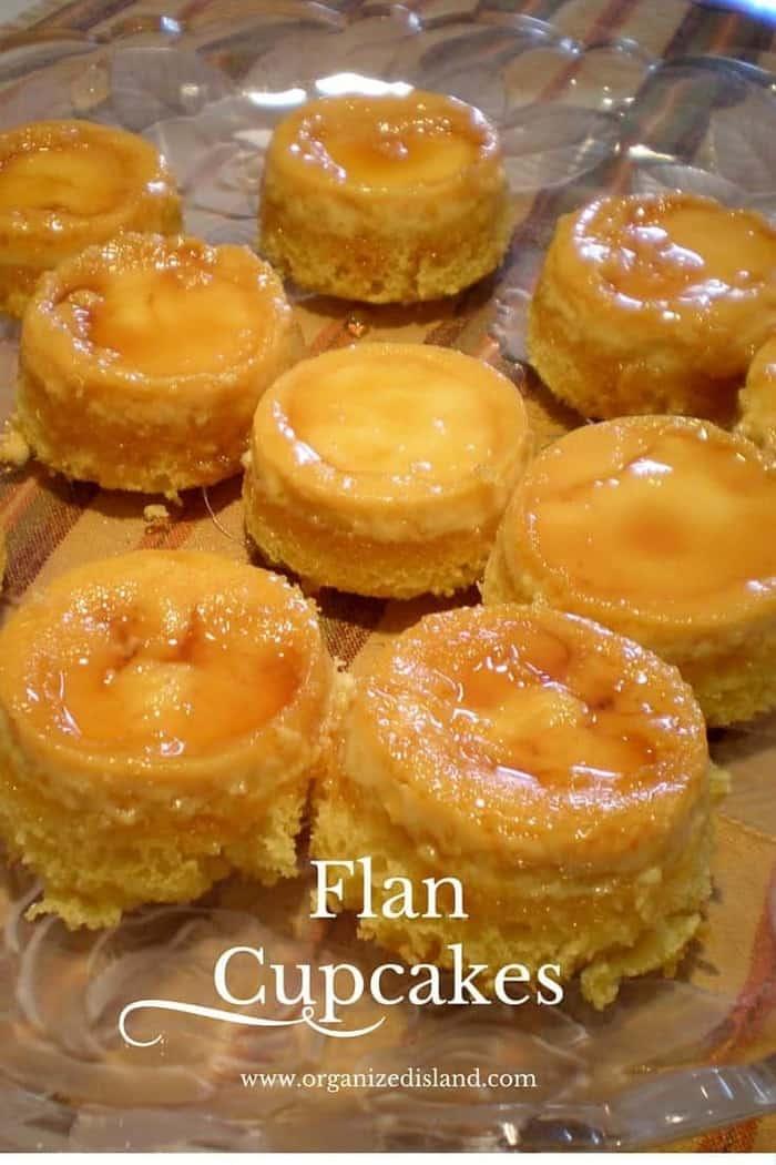 Caramel Custard Flan Cupcakes