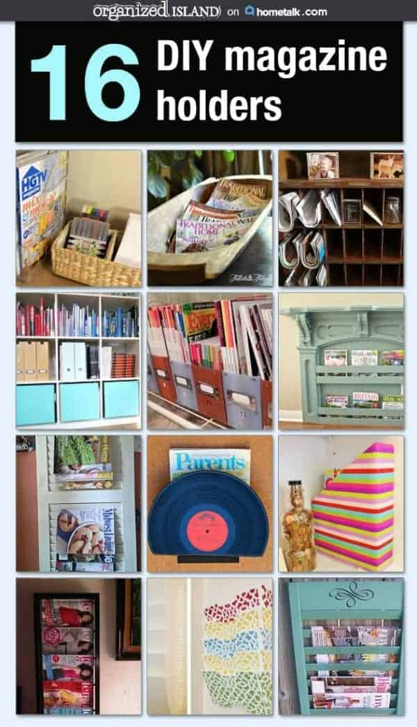 16 DIY Magazine Holders