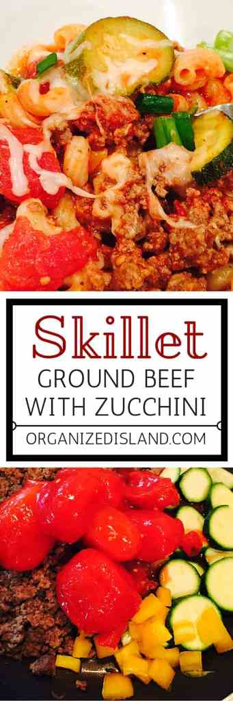 This easy skillet meal incorporates ground beef, zucchini and other vegetables to make a wonderful one pot skillet supper!
