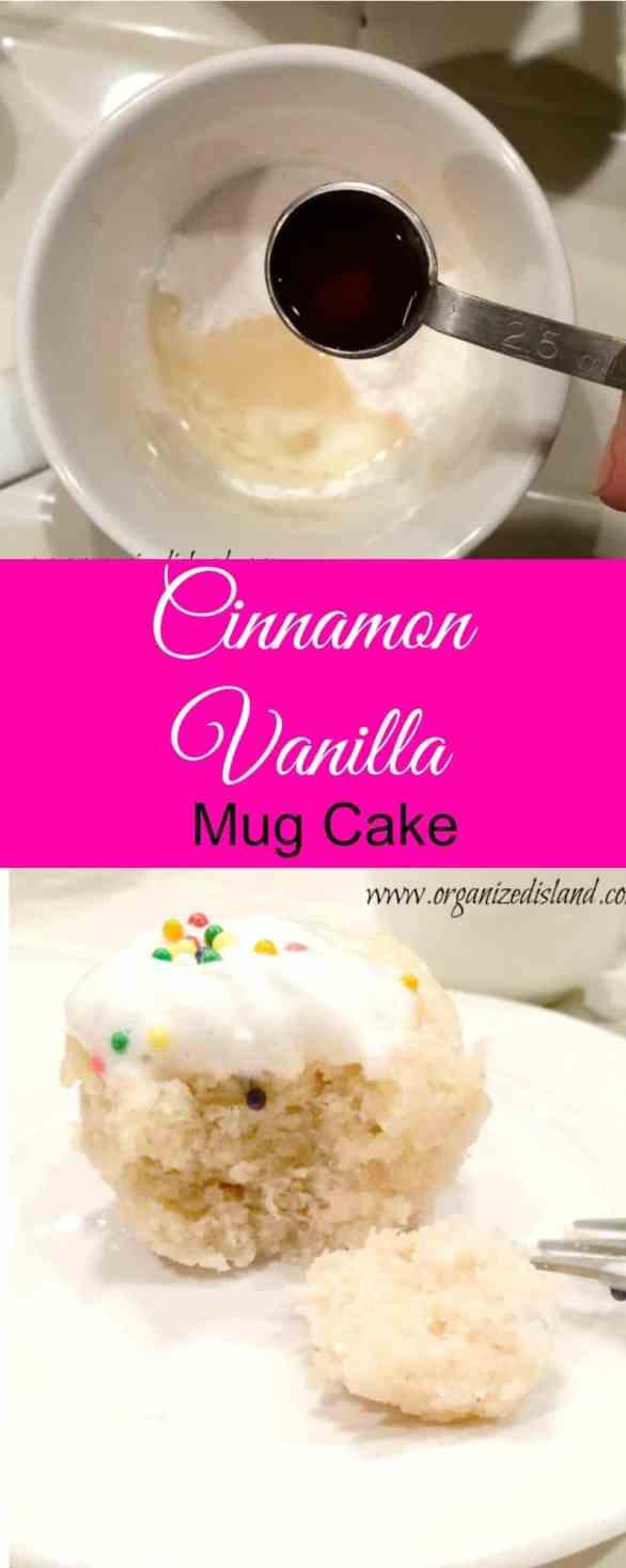 Cinnamon Vanilla Mug Cake Recipe