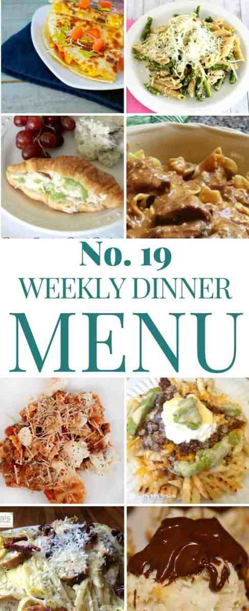 Weekly Dinner Menu Plan