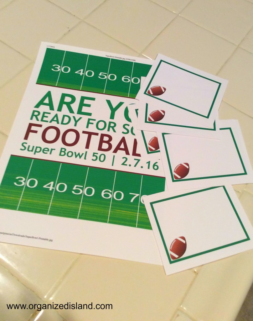 football-party-printables