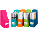 colorful plastic magazine organizers