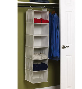 A Great Way To Do This Is With The Six Shelf Hanging Closet Organizer. This  Hanging Closet Organizer ...