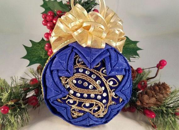 homemade christmas ornaments blue