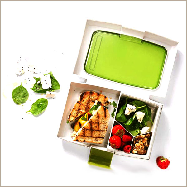 bento lunch box top view