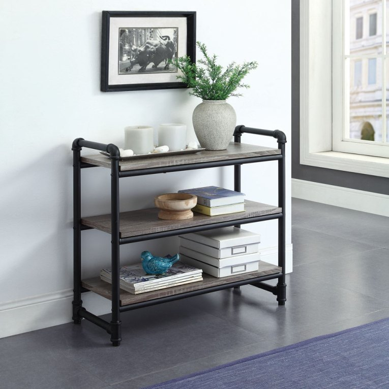 Industiral Pipe Furniture 3-Tier Wall Shelf