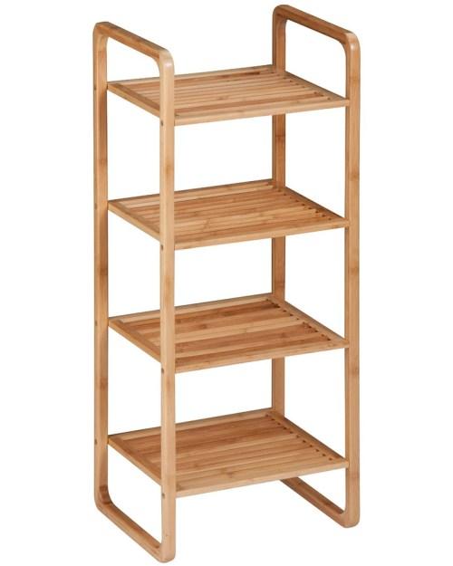 Medium Of Wood Bathroom Shelf