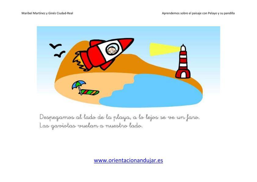 Educacion Infantil el paisaje imagen la playa