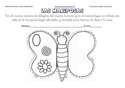 lateralidad y recortar mariposas 2