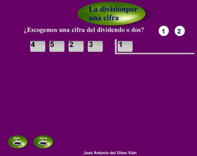 divisiones entre una cifra