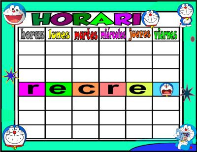 horario 6 HORAS-1 doraemon