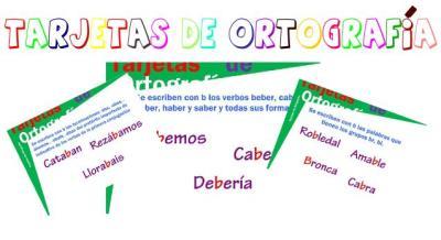 TARJETAS DE ORTOGRAFIA SE ESCRIBEN CON B 1 IMAGEN