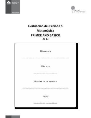 PRIMERO DE PRIMARIA EVALUACION MATEMATICA PRIMER TRIMESTRE IMAGEN