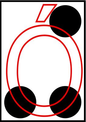 braille letra O acentuada