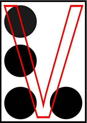 braille letra V