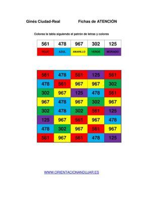 Identifica tres numeros y seguir una instrucción colorear PLANTILLA DE TRABAJO imagen