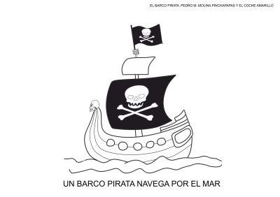 fichas para colorear el barco pirata carnaval