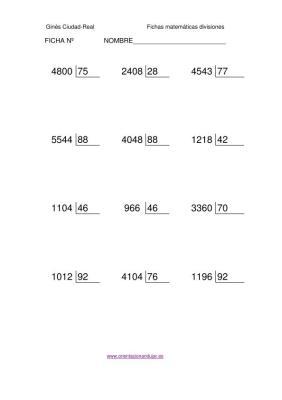 Coleccion de Divisiones exactas nivel medio imagen