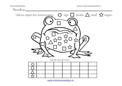 colorea y cuenta las formas geometricas con animales imagenes_3