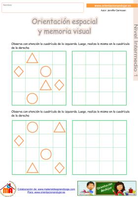 16 Intermedio 1 orientaci¢n espacial y memoria visual