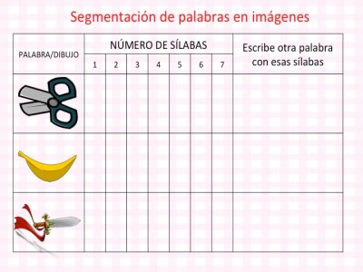 DISLEXIA Colección actividades segmentación de palabras en imágenes conciencia fonológica4