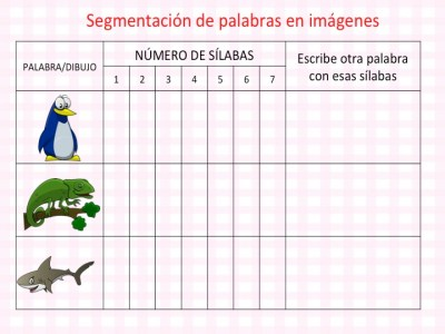DISLEXIA Colección actividades segmentación de palabras en imágenes conciencia fonológica6