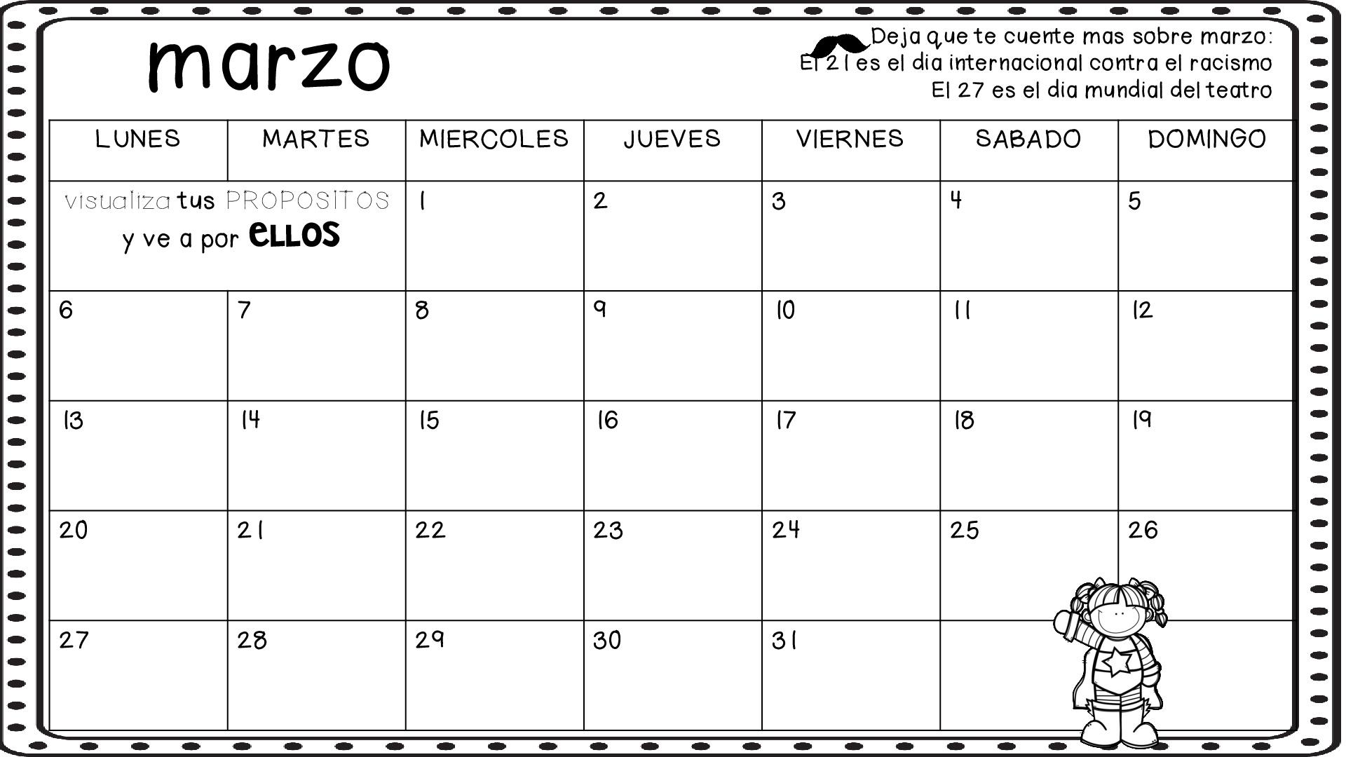 Decora tu clase con este super calendario para este curso 2016-2017 ...