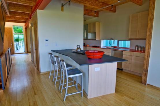Bamboo flooring in a modern home design