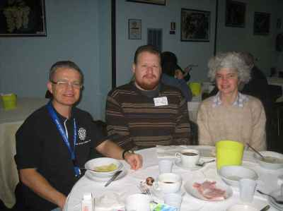 Ralf Konrad, Eric Gjerde, and Mélisande at the CDO convention, 2006