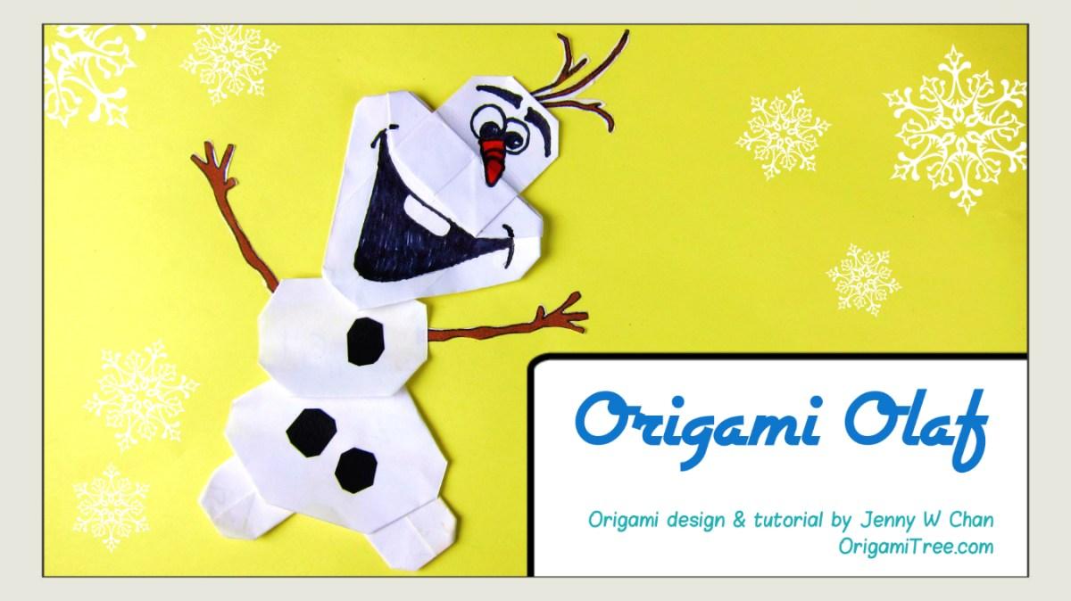 Origami Olaf - Disney Frozen