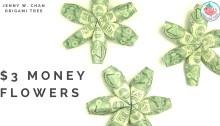 origami money $2 flower tutorial origamitree.com