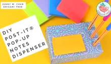 how to make post it pop up dispenser DIY Jenny W Chan Origami Tree
