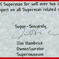 """ComicLink"" Superman Costume Auction & Questions for Jim Hambrick (Super Museum / Supermuseum)"