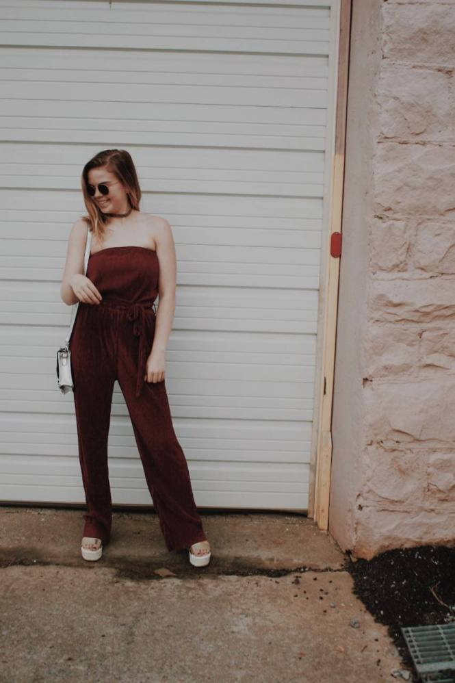 Tobi Strapless Jumpsuit. Original Sam Smith